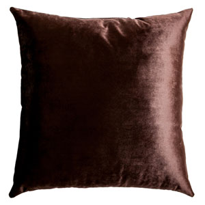 Tatum Espresso 8 x 8 In. Luxurious Velvet Decorative Pillow