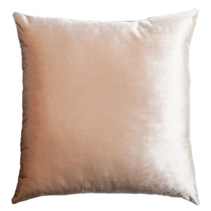 Tatum Flax 8 x 8 In. Luxurious Velvet Decorative Pillow