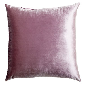 Tatum Lavender 8 x 8 In. Luxurious Velvet Decorative Pillow