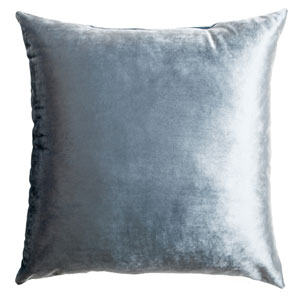 Tatum Mist 8 x 8 In. Luxurious Velvet Decorative Pillow