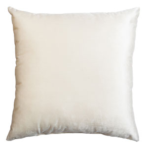 Tatum Pearl 8 x 8 In. Luxurious Velvet Decorative Pillow