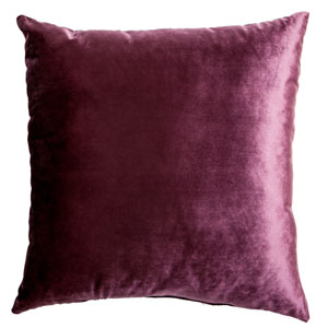 Tatum Plum 8 x 8 In. Luxurious Velvet Decorative Pillow