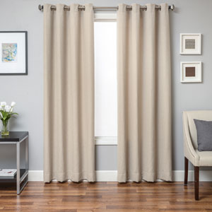 Archer Natural 96 x 55 In. Diamond Jacquard Linen Panel
