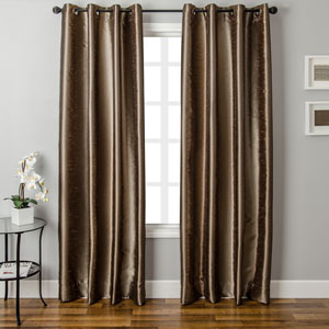 Dorian Latte Toffee 96 x 55 In. Ikat Inspired Jacquard Panel
