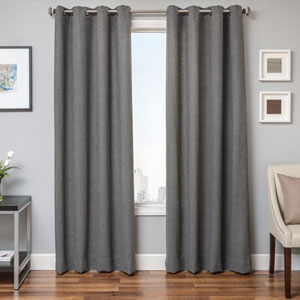 Grayson Black Grey 96 x 55 In. Classic Houndstooth  Panel