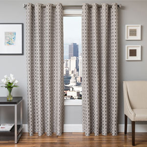 Holden Silver 84 x 55 In. Geometric Jacquard Panel