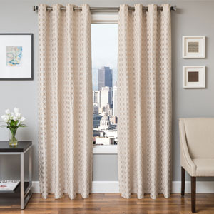 Holden Natural 84 x 55 In. Geometric Jacquard Panel