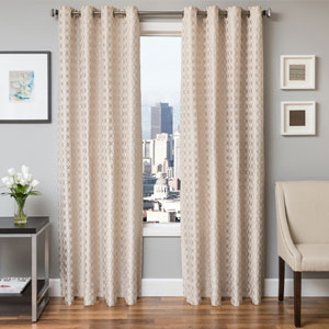 Holden Natural 96 x 55 In. Geometric Jacquard Panel