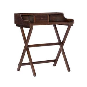 Leilani Antique Walnut Folding Desk