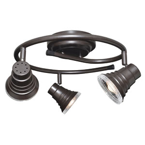 Rail and Spots Oil-Rubbed Bronze Three-Light LED Monorail Track Light