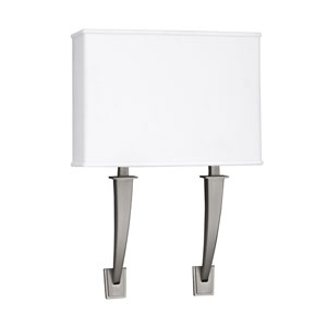 Sheridan Satin Nickel 18-Inch Two-Light LED Wall Sconce