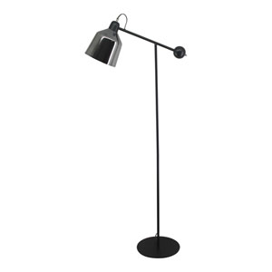 Sonny Black One Light LED Floor Lamp