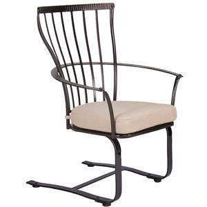 Spring Base Dining Arm Chair, Copper Canyon and Flagship Stone