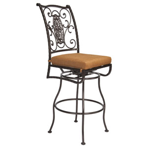 Swivel Bar Stool Without Arms, Copper Canyon and Trax Teak