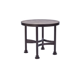 Side Table Base with 24-inch Round Top Copper Canyon and Roma Dark