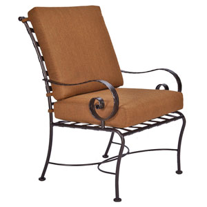 Club Dining Arm Chair, Copper Canyon and Trax Teak