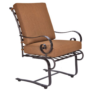 Club Dining Spring Base Arm Chair, Copper Canyon and Trax Teak