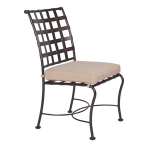 Dining Side Chair, Copper Canyon and Trax Teak