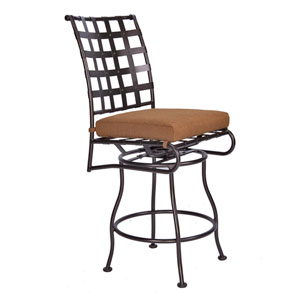 Swivel Counter Stool without Arms, Copper Canyon and Trax Teak