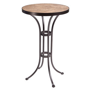 Bar Table Base with 24-inch Round Top Copper Canyon and Roma Dark