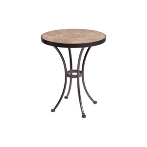 Dining Table Base with 24-inch Round Top Copper Canyon and Roma Dark