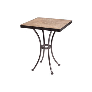 Dining Table Base with 24-inch Square Top Copper Canyon and Roma Dark