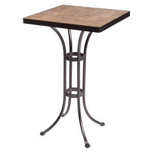 Bar Table Base with 24-inch Square Top Copper Canyon and Roma Dark