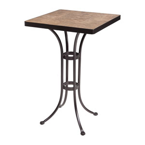 Counter Table Base with 24-inch Square Top Copper Canyon and Roma Dark