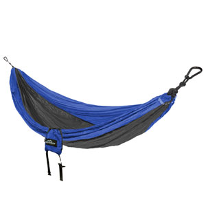 Castaway Blue and Charcoal Single Travel Hammock