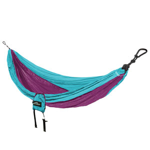 Castaway Turquoise and Purple Single Travel Hammock