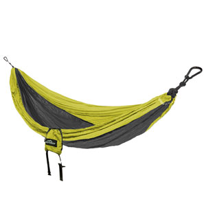Castaway Green and Charcoal Single Travel Hammock