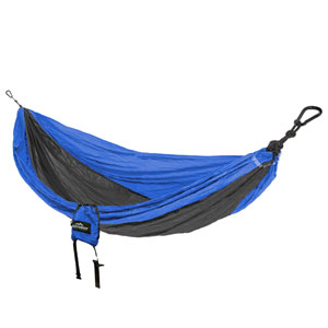 Castaway Blue and Charcoal Double Travel Hammock
