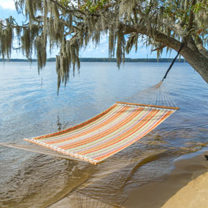 Castaway Orange Stripe Quilted Hammock