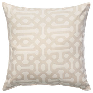 Pillow Sunbrella Square Large Fretwork Flax