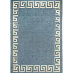 Rug Waves 2X3 Blue and Champagne