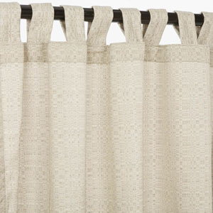 Sunbrella Curtain with Tab Silver