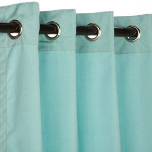 Curtain Nickel Grom Sunbrella Glacier