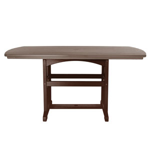 Chocolate/Weatherwood Dining Table
