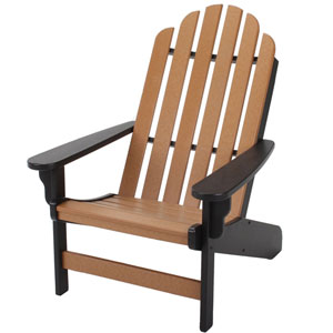 Essentials Black/Cedar Adirondack Chair
