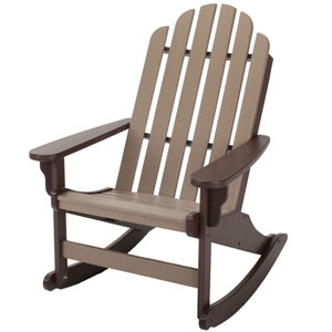 Essentials Chair Chocolate/Weatherwood Adirondack Rocker