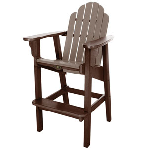 Essentials Chocolate/Weatherwood Counter Chair
