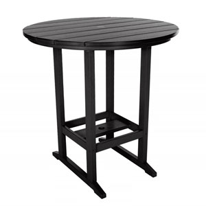 Black High Dining Table  Round