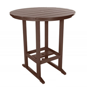 Chocolate High Dining Table Round