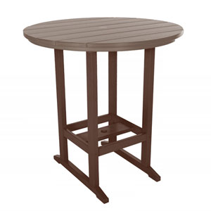 Chocolate/Weatherwood High Dining Table Round