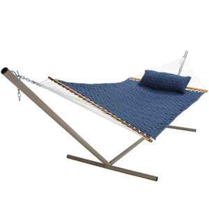 Soft Weave Hammock Blue