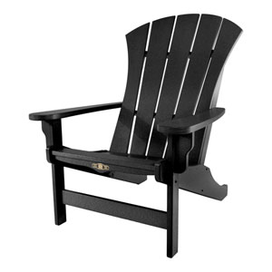 Sunrise Dew Black Adirondack Chair