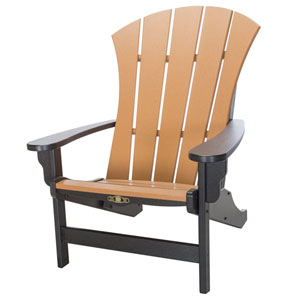 Sunrise Dew Black/Cedar Adirondack Chair