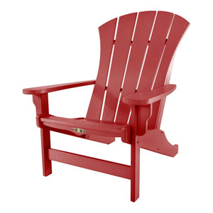 Sunrise Dew Red Adirondack Chair