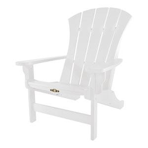Sunrise Dew White Adirondack Chair