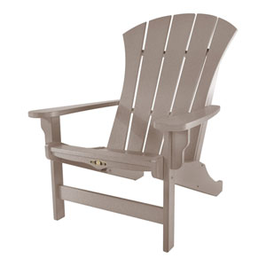 Sunrise Dew Weatherwood Adirondack Chair